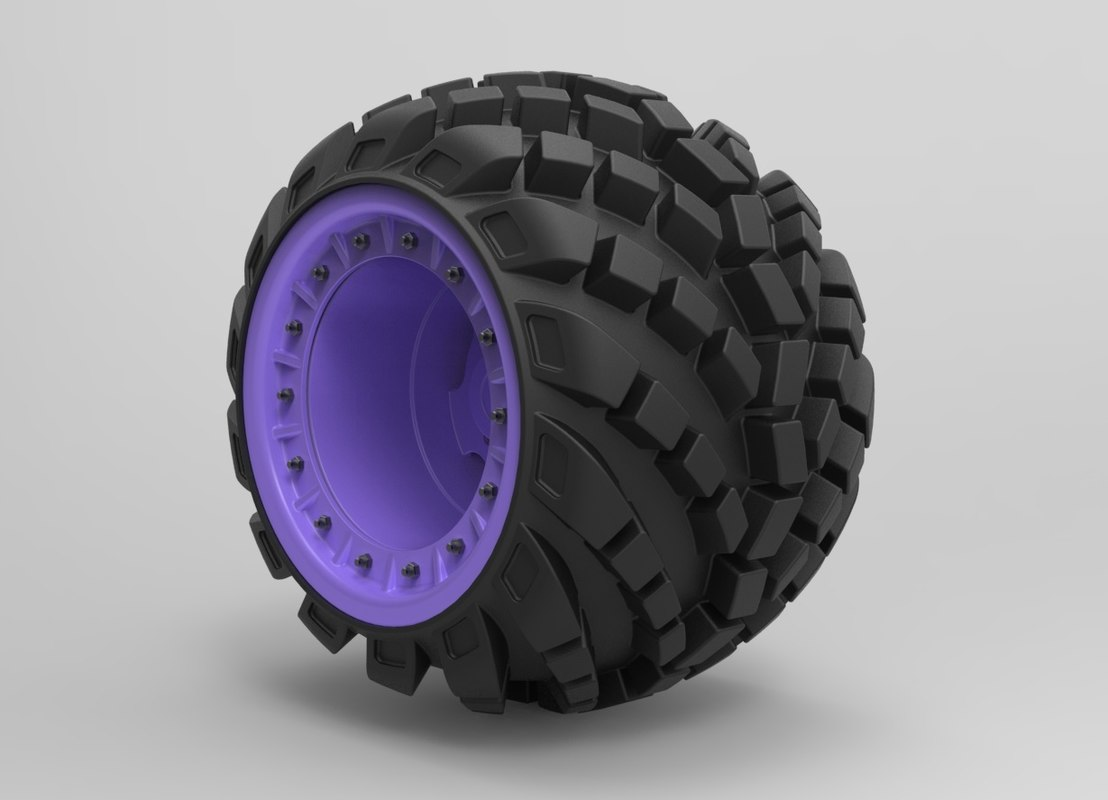 3D model arched wheel offroad