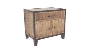 glendora solid wood storage 3D