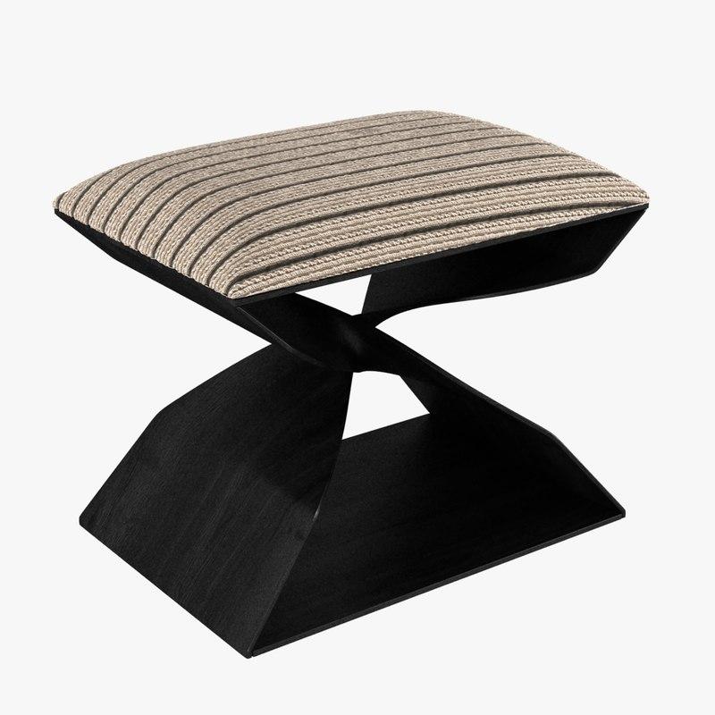 3D stool carol egan sculptural model