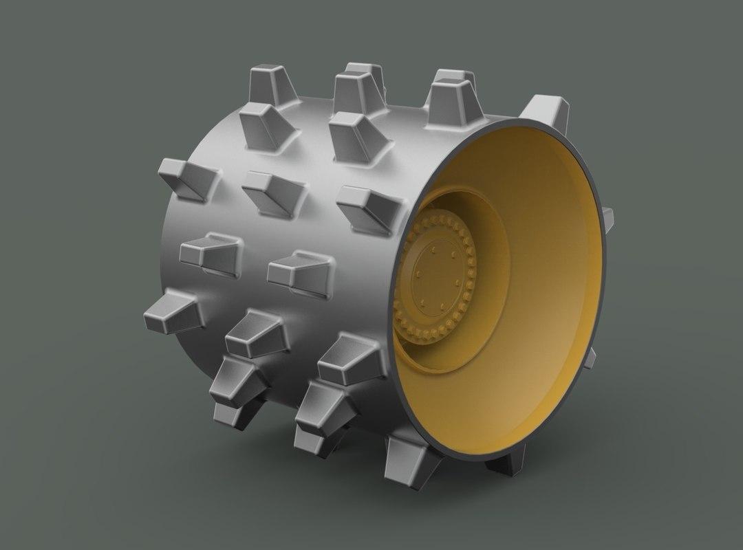 3D wheel compactor