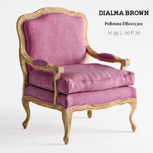 dialma brown armchair db005301 3D model