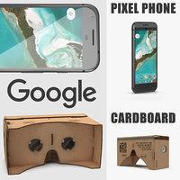 3D model google cardboard vr headset