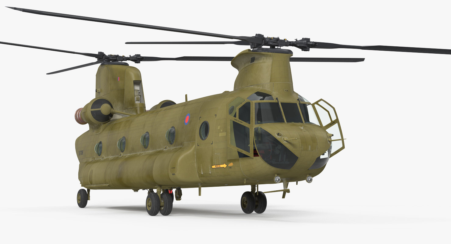 3D heavy helicopter ch-47 chinook model