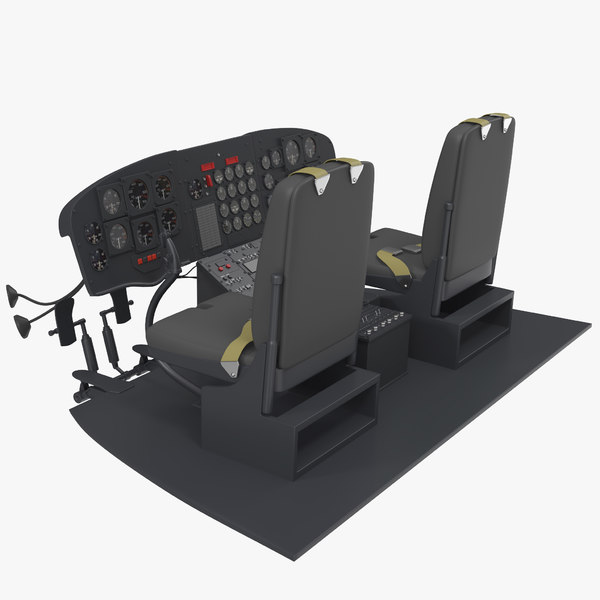 heavy helicopter cockpit 3D