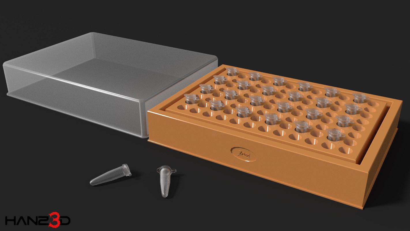 3D pcr tube model