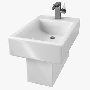 3D modern bathroom bidet