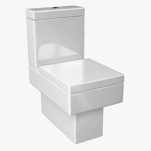 3D model modern bathroom toilet
