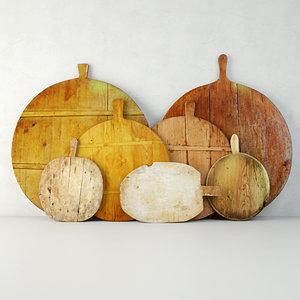 3D antique cutting boards