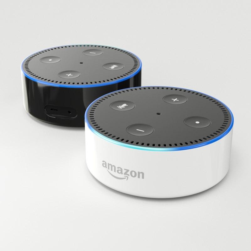 amazon echo dot 2nd 3D model