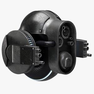 patrol drone sci-fi 3D