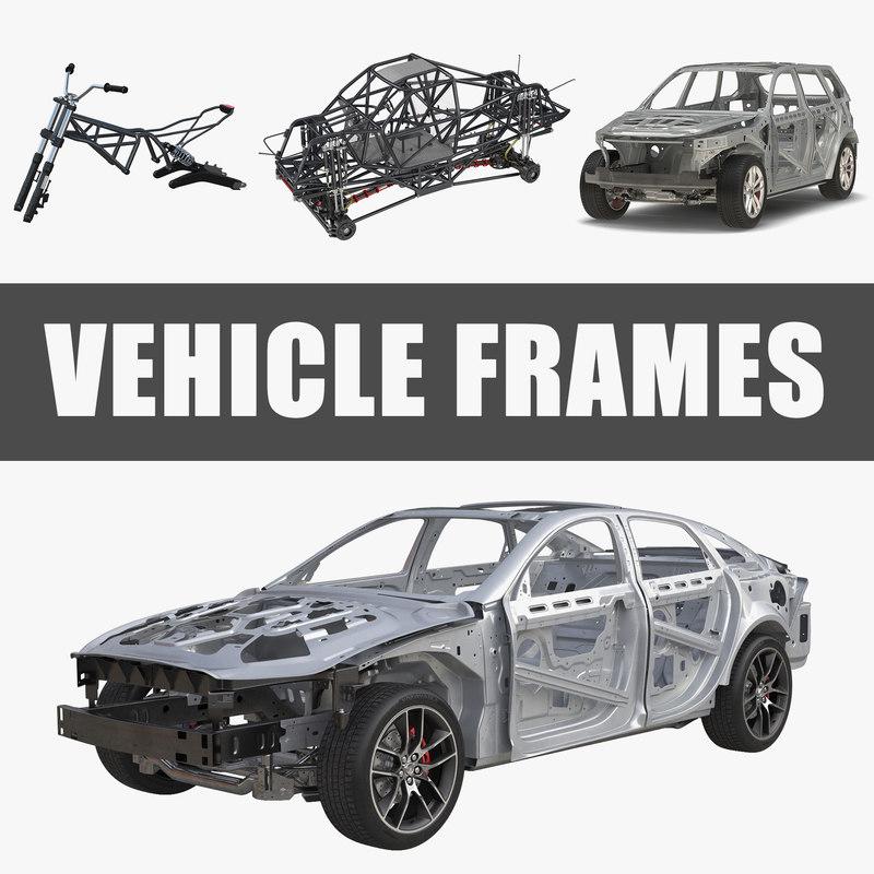 Vehicle frames 3D model - TurboSquid 1215704