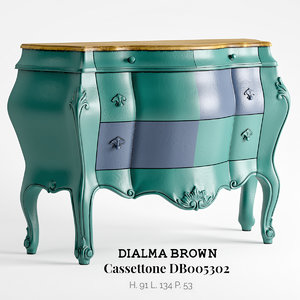 3D dialma brown chest drawers model