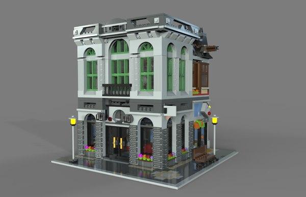 lego bank 3D model