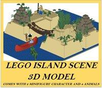 LEGO ISLANDER SCENE