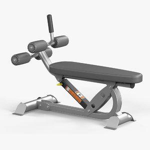 3D adjustable ab bench hoist