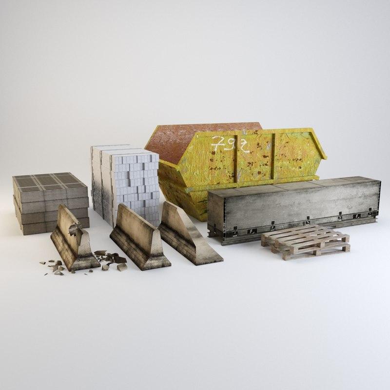 3D model building set