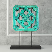 emerald green chinese glazed 3D model