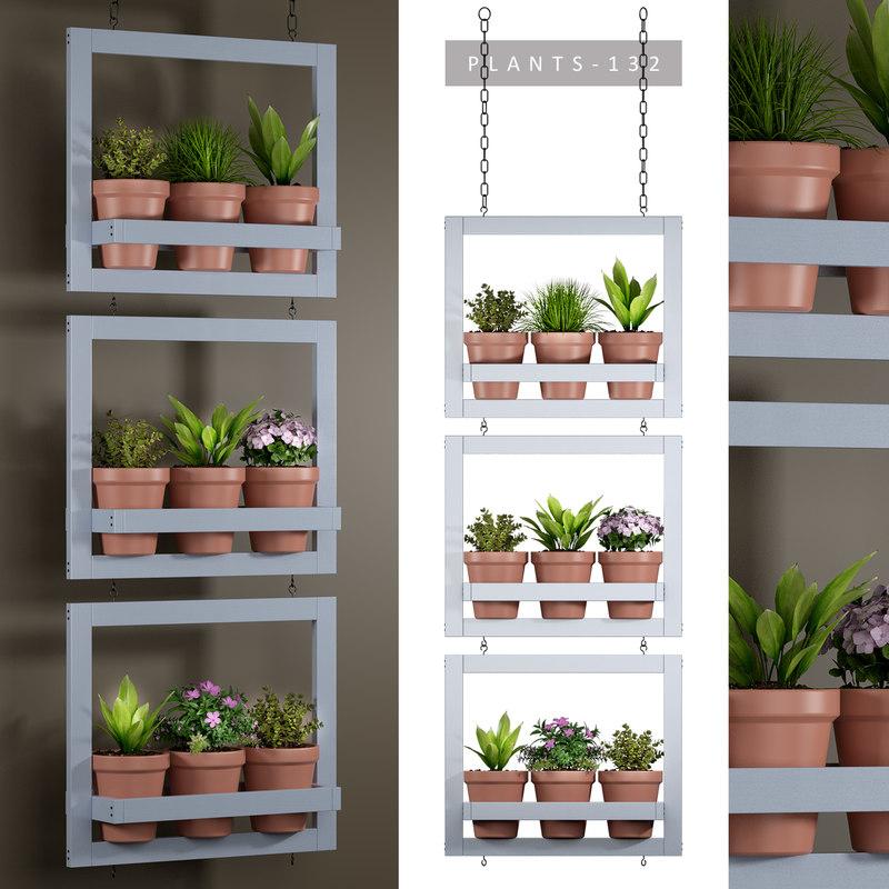 3D plants hanging