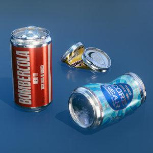 3D cans model