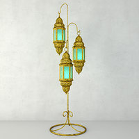 3D moroccan hanging floor lanterns
