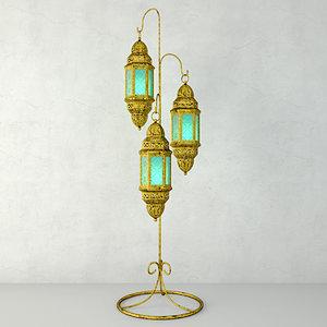 3D moroccan hanging floor lanterns