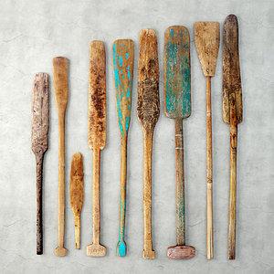 3D oars lodka