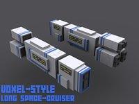 spaceship battleship 3D model
