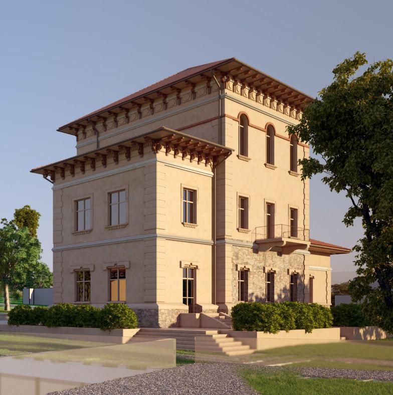 3D model classic estate architectural