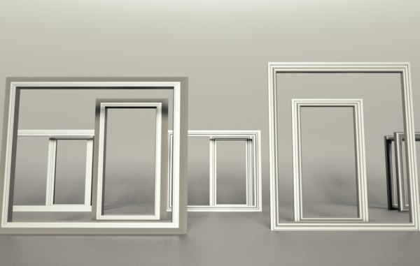 windows frame decor 3D