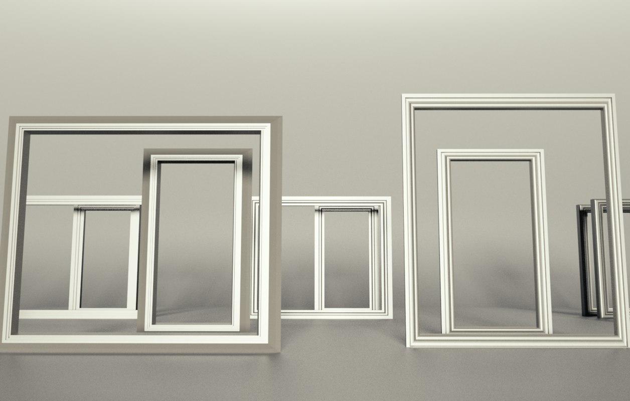 windows frame decor 3D