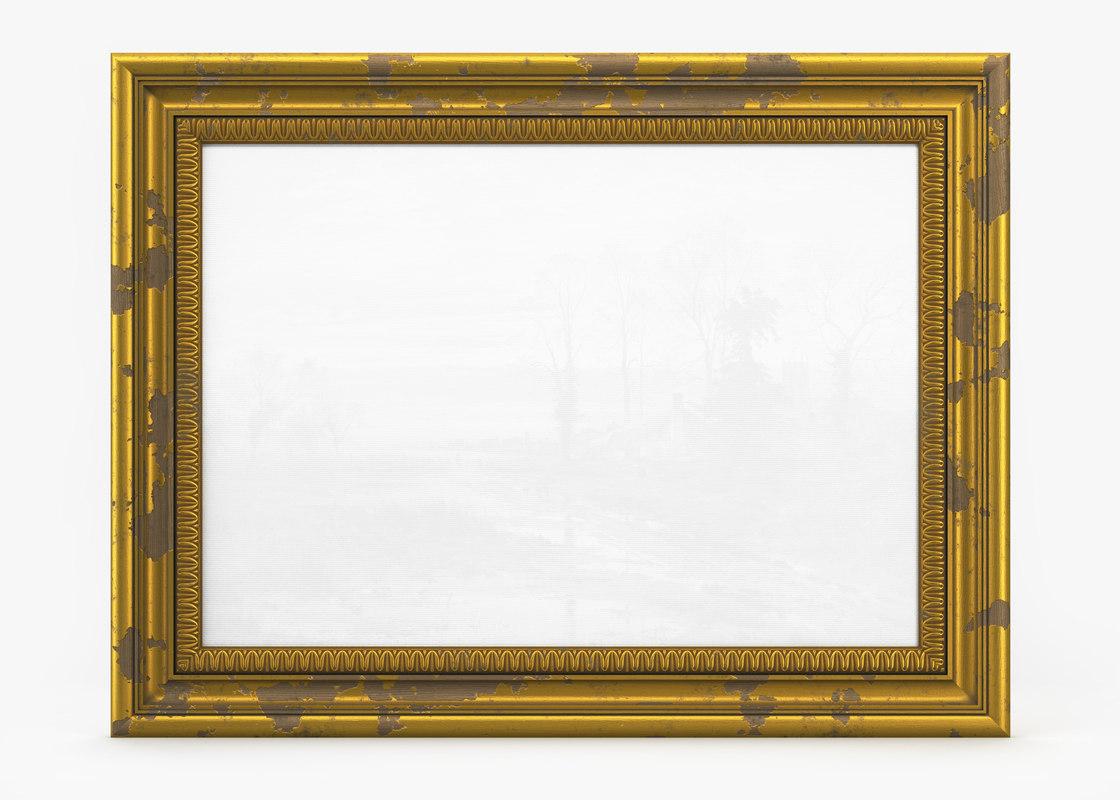 frame picture v8 old 3D model