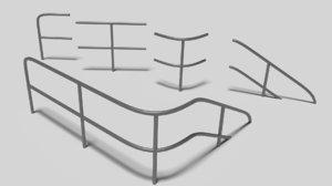 3D model iron railing