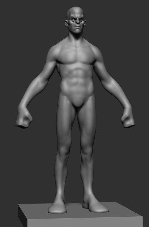 3D stylized male