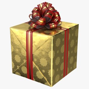 3D realistic gift box 03