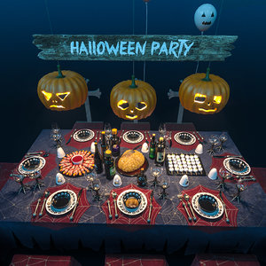 halloween party set model