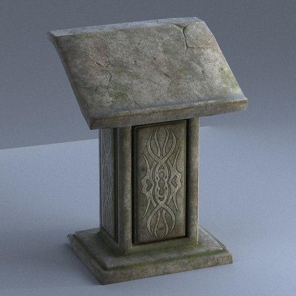 3D pulpit