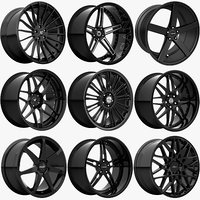 rims - black edition: 3D model