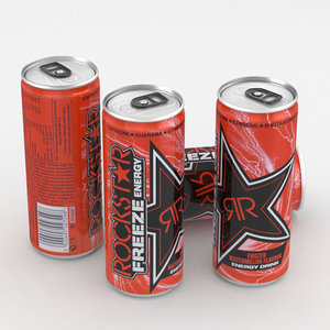 3D model beverage drink energy
