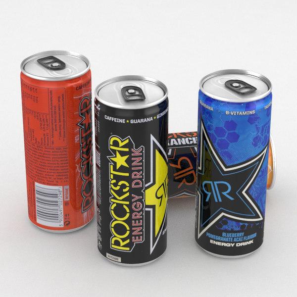 rockstar beverage energy drink 3D model