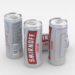 drink alcohol vodka model