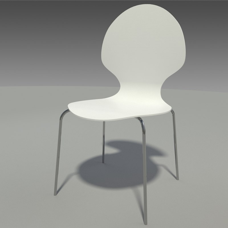 3D model contemporary dining chair