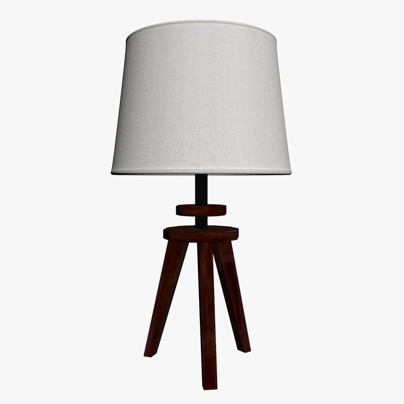 lamp white 3D model