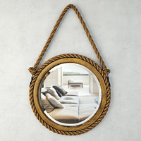 bayview hanging rope mirror 3D model
