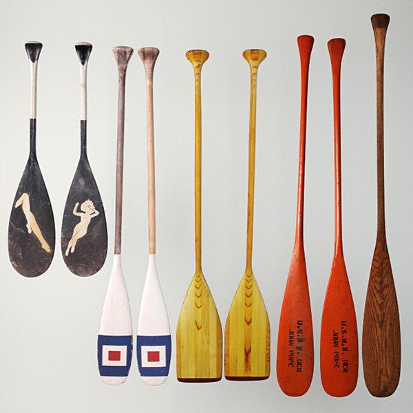 3D canoe paddles model