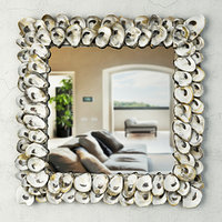 3D model oyster shell mirror currey