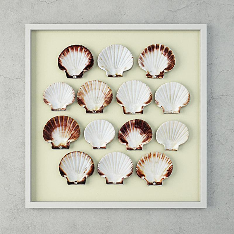 scallop shells 3D model