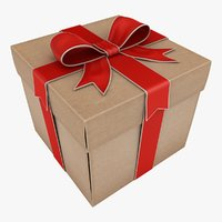 gift box 2 color 3D model