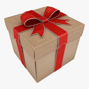 gift box 2 color 3D model