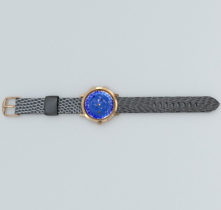 3D model hand watch astronomical