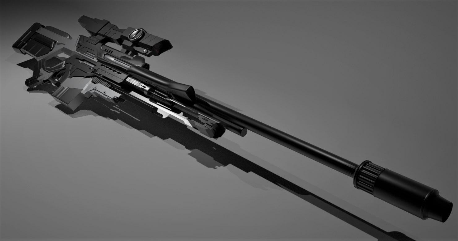 concept sniper rifle 3D
